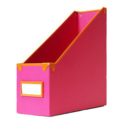 "Design Ideas Frisco Magazine File, Pink - The Frisco Collection from Design Ideas adds a happy vibe to desk organizers. Made from colorful paperboard with 100% post-consumer recycled core and contrasting metal trim. 4"" X 10"" X 10.5"""