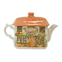 Lavish Shoestring - Consigned Thatched Cottage Teapot by Sadler, Vintage English - This is a vintage one-of-a-kind item.