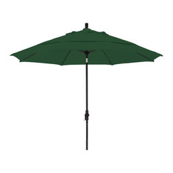 California Umbrella - 11 Foot Sunbrella Crank Lift Collar Tilt Aluminum Market Umbrella, Black Pole - California Umbrella, Inc. has been producing high quality patio umbrellas and frames for over 50-years. The California Umbrella trademark is immediately recognized for its standard in engineering and innovation among all brands in the United States. As a leader in the industry, they strive to provide you with products and service that will satisfy even the most demanding consumers.