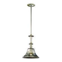 Corbett Lighting - Corbett Lighting 103-41 Argento 1 Light Pendants in Polished Nickel - 1Lt Bar Pendant Medium - Wide Bell