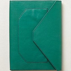 Anthropologie - Pocketed Leather Journal - *Paper, leather, magnet