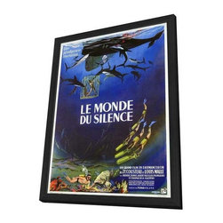 The Silent World 11 x 17 Movie Poster - French Style A - in Deluxe Wood Frame - The Silent World 11 x 17 Movie Poster - French Style A - in Deluxe Wood Frame.  Amazing movie poster, comes ready to hang, 11 x 17 inches poster size, and 13 x 19 inches in total size framed. Cast: Albert Falco