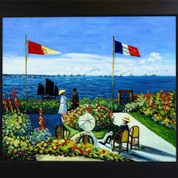 "overstockArt.com - Monet - The Terrace at St. Adresse Oil Painting - 20"" x 24"" Oil Painting On Canvas Hand painted oil reproduction of a famous Monet painting, The Terrace at St. Adresse. The original masterpiece was created in 1867. Today it has been carefully recreated detail-by-detail, color-by-color to near perfection. While Monet successfully captured life's reality in many of his works, his aim was to analyze the ever-changing nature of color and light. Known as the classic Impressionist, one can not help but have deep admiration for his talent. This work of art has the same emotions and beauty as the original. Why not grace your home with this reproduced masterpiece? It is sure to bring many admirers!"