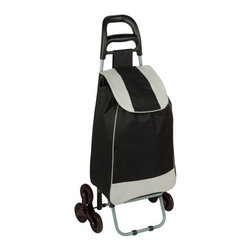 Bag Cart With Tri-Wheels, Black - Honey-Can-Do CRT-03933 Large Rolling Knapsack Bag Cart with ...