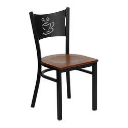 Flash Furniture - Flash Furniture Hercules Series Black Coffee Back Metal Restaurant Chair - Provide your customers with the ultimate dining experience by offering great food, service and attractive furnishings. This heavy duty commercial metal chair is ideal for restaurants, hotels, bars, lounges, and in the home. Whether you are setting up a new facility or in need of a upgrade this attractive chair will complement any environment. This metal chair is lightweight and will make it easy to move around. This easy to clean chair will complement any environment to fill the void in your decor. [Xu-dg-60099-cof-chyw-gg]