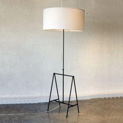 Cerrillos Floor Lamp - This black iron lamp from Jonah Meyer is so contemporary and wonderful.