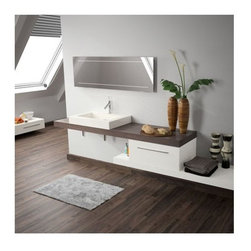 Ambiance Bain - Ambiance Bain | Tempo Large Vanity Work Top - Made in France by Ambiance Bain.A part of the Tempo Collection. The Tempo Large Vanity Work Top is a sleek and durable platform for sinks and storage in modern bathroom. This luxury countertop can be used alone, or with additional under-counter storage drawers for extra organization and out-of-the-way storage solutions. Select from a variety of sizes and colors that are sure to upgrade the overall appeal of master bathrooms. Also available in a small version.Product Features:
