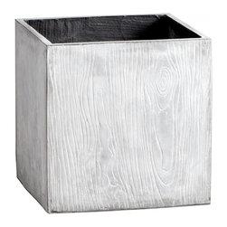 "Joshua Marshal - Light Grey 20"" Box Woody Planter - Light Grey 20"" Box Woody Planter"