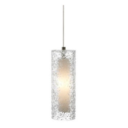 """LBL Lighting - LBL Lighting HS547CRSC1BMPT Satin Nickel Rock Candy 1 Light Mini - LBL Lighting Mini Rock Candy C Clear 50W Monopoint 1 Light Mini PendantHandmade from start to finish, this beautiful cylindrical Clear Monopoint pendant is created by talented craftspeople. Beginning with a mouth-blown transparent glass cylinder, the glass is then rolled in Clear crystal frit, and finally flash heated to an extremely high temperature to create the unique texture on this stunning fixture. Enclosing a 50 watt xenon lamp creating a soft glow from the inside, this attractive fixture will add a sense of style to any home.Each Monopoint System lighting fixture includes a 4"""" diameter single-point canopy with built-in transformer for a quick and easy installation.LBL Lighting Mini Rock Candy C Clear 50W Monopoint Features:Track System: MonopointIncludes 4.3"""" diameter, 0.4"""" high flush round canopy with 12V, 60W electronic transformer (mounts to standard 4 electrical box)Pictured with Satin Nickel finishIncludes 72"""" of field-cuttable wireCylinder shaped Clear Mouth-Blown Glass shadeLBL Lighting Mini Rock Candy C Clear 50W Monopoint Specifications:Includes (1) x 50 Watt GY6.35 Base Xenon BulbVoltage: 12Wattage: 50Height: 10.2""""Diameter: 3.6""""Includes flush round canopy with 12V, 60W electronic transformer (mounts to standard 4 electrical box)Shade Height: 10.2""""Shade Width: 3.6""""Maximum Overall Height: 82.2""""Canopy Height: 0.4""""Canopy Diameter: 4.3""""Compatibility: MonopointUL Listed for Dry LocationLBL Lighting Mini Rock Candy C Clear 50W Monopoint Lamping Specifications: Rated Hours: 10000CRI: 100Color Temperature: 2900KLumens: 750For 38 years, LBL Lighting has built their business on trust. Since its inception as a family business in 1971 LBL Lighting has continued to be one"""