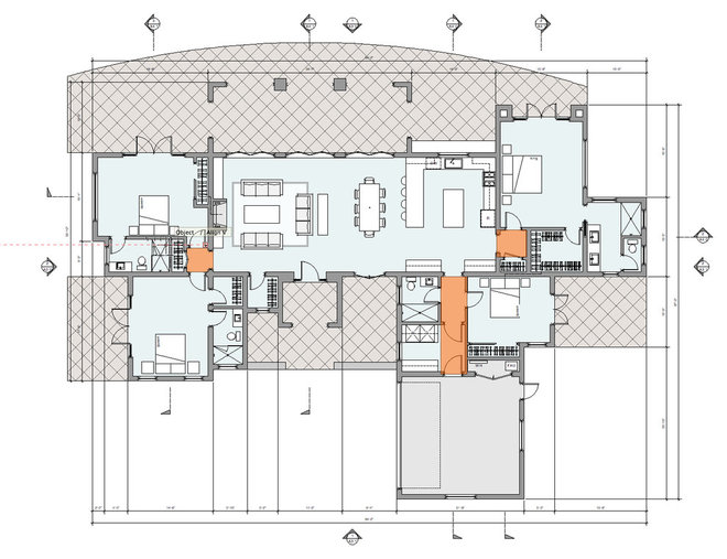 Mediterranean Floor Plan by Dylan Chappell Architects