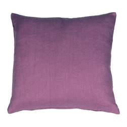 Pillow Decor - Pillow Decor - Tuscany Linen Purple 20 x 20 Throw Pillow - The Tuscany Linen 20 x 20 Throw pillows are 100% linen with a soft natural linen touch and texture. Available in a range of colors and sizes, these linen pillows are ideal solid color accent pillows for your bed or sofa. Mix and match to complement other accent colors in your home.