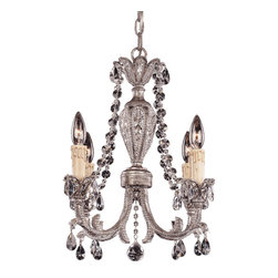 Savoy House - 4-Light Mini Chandelier - One of nine different dainty mini chandelier designs, filled with delicate beading and elaborate crystal, each one perfect for adding a touch of charm and whimsy to any of your homes most intimate spaces.