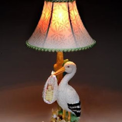 ATD - 18 Inch Lamp with Stork Holding Newborn Baby, with Floral Lamp Shade - This gorgeous 18 Inch Lamp with Stork Holding Newborn Baby, with Floral Lamp Shade has the finest details and highest quality you will find anywhere! 18 Inch Lamp with Stork Holding Newborn Baby, with Floral Lamp Shade is truly remarkable.