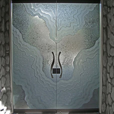 Contemporary Front Doors by Sans Soucie Art Glass