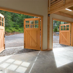 Interior Detail of Real Carriage Doors -