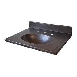 """Native Trails - Native Trails 30"""" Sedona Vanity Top w/ Integral Basin in Antique - *Hand hammered copper"""