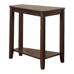 Steve Silver Furniture - Steve Silver Joel Cherry Chairside End Table - Joel chairside end table belongs to Joel collection by Steve Silver. Although small, its unique pyramid angle will make this the most versatile end table in your living room. Make room for the Joel chairside end table in your house. This unique table is available in a cherry or oak finish.