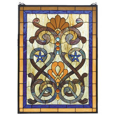 Contemporary Stained Glass Panels by Arcadian Home & Lighting