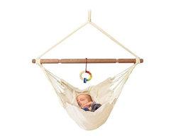 Organic Baby Hammock with Adjustable Positions - An organic baby hammock will stylishly lull your baby to sleep.