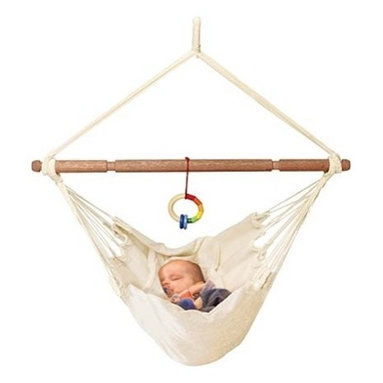 Organic Baby Hammock with Adjustable Positions - An organic baby hammock will stylishly lull your baby to sleep.