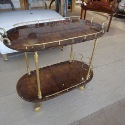 New finds at Umbrella - Here's another new acquisition...circa 1970, Aldo Tura Bar Cart with beautiful gold detailing.