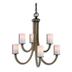 Uttermost - Gironico 6-Light Rope Chandelier - Original lighting is a great way to make a design impact in your dining room or entryway. Wrapped rope and faux candle details pair beautifully to create a slightly nautical look. It makes a romantic addition to your eclectic home.