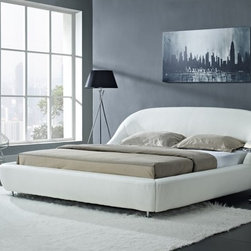 "Creative Furniture - ""Creative Furniture"" Mia Modern White Eco-Leather Bed - Features:"
