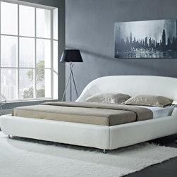 "Creative Furniture - ""Creative Furniture"" Mia Modern White Eco-Leather Bed - Features:"