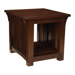 Standard Furniture - Standard Furniture Artisan Loft Rectangular End Table in Warm Medium Oak - The rustic, yet refined character of Arts & Crafts styling is portrayed in the authentic craftsman elements found in Artisan Loft.