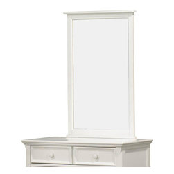 Homelegance - Homelegance Whimsy Rectangular Kids' Mirror in White - Today your little girl loves purple tomorrow white or maybe green or was it yellow? The Whimsy collection offers her the option to customize her room to reflect those fantastic whims of youth. Each front drawer panels of the case pieces can be flipped to reveal a different color floral motif. The cottage style collection features cases goods that have been scaled to fit into your child s world.