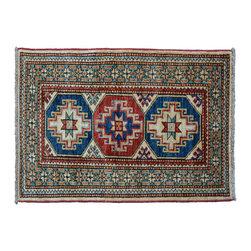 1800GetARug - Tribal Design Fine Kazak Hand Knotted Rug Sh11250 - About Tribal & Geometric