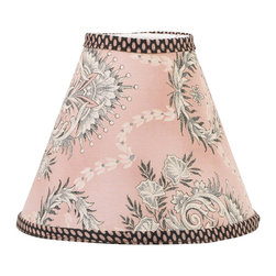 Cotton Tale Designs - Nightingale Std. Lampshade - A quality baby bedding set is essential in making your nursery warm and inviting. All N. Selby patterns are made using the finest quality materials and are uniquely designed to create an elegant and sophisticated nursery. The Nightingale shade is made of pink, gray, and charcoal cotton percale. Trimmed in dot. Shade measures 8 x 9 x 4 inches. Spot clean only. Perfect for a girls nursery.