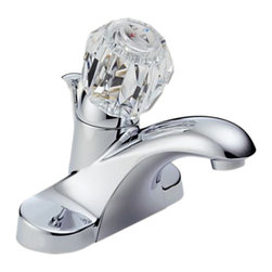 Delta - Delta B512LF Foundations Series Single Handle Centerset Lavatory Faucet (Chrome) - The old-world style and traditional charm of the Foundations series will bring an air of grace to any room in your home.