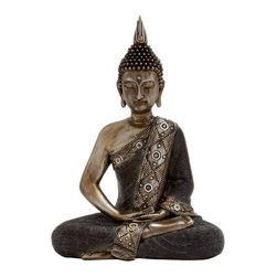 Most Unique Polystone Sitting Buddha - Description: