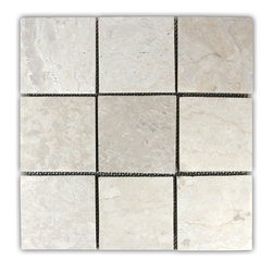 "CNK Tile - Cream 4"" x 4"" Stone Mosaic Tile - Usage:"