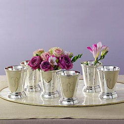 Ross-Simons - Set of 4 Mint Julep Cups In Silver Plate - #625654 - Whenever I am getting ready for a party, I get my mint julep cups ready. Whether a baby shower, Christmas party or any other event, they are always used at my house.