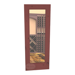 "CellarSelect™ Wine Cellar Door: Chardonnay Full Lite (Cherry Stain with Lacquer) - Chardonnay , a standard 30"" x 80"" door designed to show off and enhance your wine collection but not break the bank. Our most popular style - features high end construction that will help insulate and seal your cellar while highlighting your wine. Made in the USA."