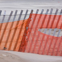 PrintedArt - A Fence in the Sand - Print is made with archival pigment inks for best color saturation and contrast with a 75-year guarantee against fading or discoloring. Mounted on light-weight but rigid aluminum dibond board to create a float-on-the-wall piece of art. Also available face-mounted with acrylic.