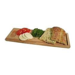 JK Adams - Farmhouse Bread Board - Set of 2 - Set of 2. Thickness: 0.75 in.. Made from maple. Mineral oil finish. Made in America. 20 in. L x 7 in. WOur Farmhouse Bread Board promises to be your favorite board for cutting and serving breads. The well serves as a simple dish for tasting oils.