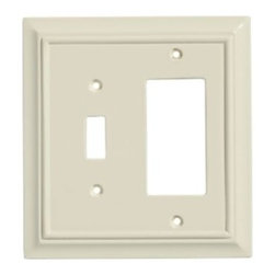 Liberty Hardware - Liberty Hardware 126378 Wood Architectural WP Collect 5.51 Inch Switch Plate - L - A simple change can make a huge impact on the look and feel of any room. Change out your old wall plates and give any room a brand new feel. Experience the look of a quality Liberty Hardware wall plate.. Width - 5.51 Inch,Height - 5.2 Inch,Projection - 0.4 Inch,Finish - Light Almond,Weight - 0.26 Lbs