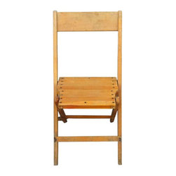 Vintage Wood Folding Chairs - Set of 6 - $540 Est. Retail - $270 on Chairish.com -