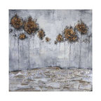 Uttermost Iced Trees Abstract Art - Textured hand painting on canvas over wooden stretchers. Frameless, hand painted artwork on canvas. The canvas has been stretched and attached to wooden stretching bars. Due to the handcrafted nature of this artwork, each piece may have subtle differences.