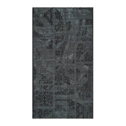 """Safavieh - Abel Rug, Black / Grey 2' X 3'6"""" - Construction Method: Power Loomed. Country of Origin: Turkey. Care Instructions: Vacuum Regularly To Prevent Dust And Crumbs From Settling Into The Roots Of The Fibers. Avoid Direct And Continuous Exposure To Sunlight. Use Rug Protectors Under The Legs Of Heavy Furniture To Avoid Flattening Piles. Do Not Pull Loose Ends; Clip Them With Scissors To Remove. Turn Carpet Occasionally To Equalize Wear. Remove Spills Immediately. Elegant Old World velvet motifs make a fashion statement for the floor in PALAZZO. A rich vintage look is achieved with a combination of lustrous and matte yarns in polypropylene and natural jute, and textural chenille for velvety pattern dimension."""