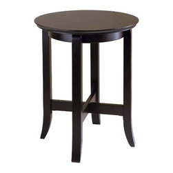 Winsome Wood - Toby End Table - Our Toby End Table that comes in slightly flared legs and rich dark espresso finish, will enrich any living room, bedroom or entry. This table is made up of solid and composite wood.