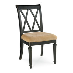 Hammary - Hammary Camden-Dark Desk Chair w/ 20H Seat in Black - - 919-636.  Product features: Belongs to Camden-Dark Collection by Hammary; Seat H20; Cross Back; Seat Upholstered in Beige; Packed 1 per Carton; Black finish. Product includes: Chair (1). Desk Chair w/ 20H Seat in Black belongs to Camden-Dark Collection by Hammary.
