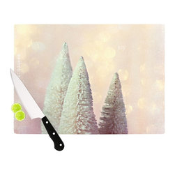 """Kess InHouse - Sylvia Cook """"Bottle Brush Trees"""" Pink Cutting Board (11"""" x 7.5"""") - These sturdy tempered glass cutting boards will make everything you chop look like a Dutch painting. Perfect the art of cooking with your KESS InHouse unique art cutting board. Go for patterns or painted, either way this non-skid, dishwasher safe cutting board is perfect for preparing any artistic dinner or serving. Cut, chop, serve or frame, all of these unique cutting boards are gorgeous."""