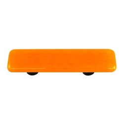 Hot Knobs - Pumpkin Orange Pull Oval - Collection - Solids