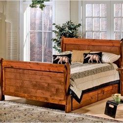 Chelsea Home Full Sleigh Bed - Cocoa - Let your child add a touch of grown-up style to their room with the Chelsea Home Full Sleigh Bed - Cocoa and its rugged look. This sturdy twin bed has a classic sleigh design for a comfy night's sleep. Hidden beneath is a pair of large drawers for space-saving storage.About Chelsea Home FurnitureProviding home elegance in upholstery products such as recliners, stationary upholstery, leather, and accent furniture including chairs, chaises, and benches is the most important part of Chelsea Home Furniture's operations. Bringing high quality, classic and traditional designs that remain fresh for generations to customers' homes is no burden, but a love for hospitality and home beauty. The majority of Chelsea Home Furniture's products are made in the USA, while all are sought after throughout the industry and will remain a staple in home furnishings.