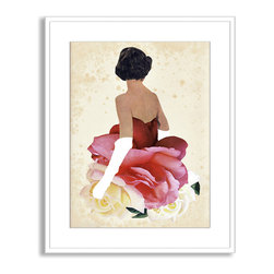 Gallery Direct - Beth Hoeckel's 'May Queen' Framed Paper Art, 32x40 - Beth Hoeckel's mixed media works are out of this world. This print of 'May Queen' comes framed, matted and ready to hang.