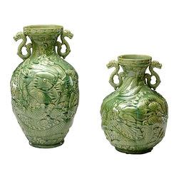 Cyan Design - Cyan Design 04576 Small Singapore Vase - Cyan Design 04576 Small Singapore Vase